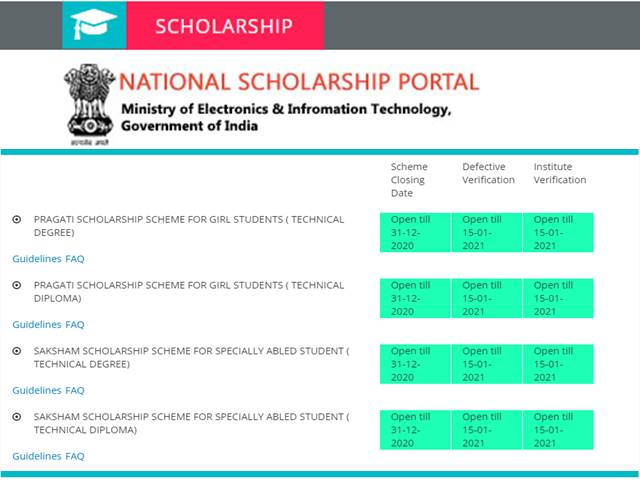 www.scholarships.gov.in 2019-20, Post matric scholarship, NSP login, National scholarship portal last date, National scholarship portal list, Scholarship 2020, NSP last date, NSP institute login,